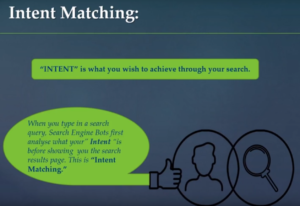 users intent matching content