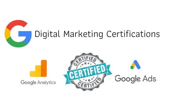 Google digital marketing certifications