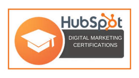 HubSpot digital marketing certifications